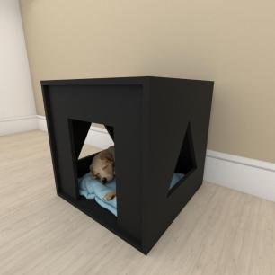 camapet para cachorro em mdf Preto
