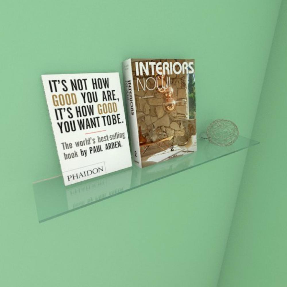 Kit com uma Prateleira para escritório 50 cm vidro temperado