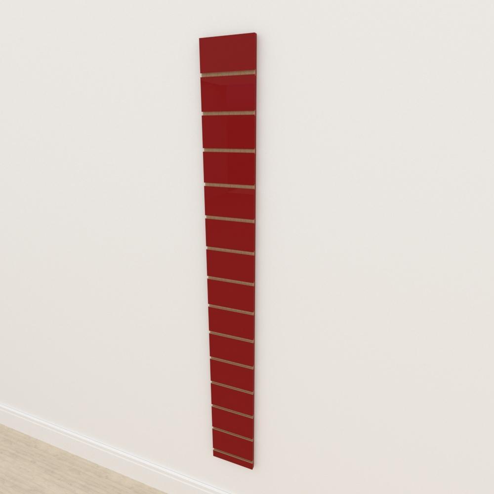 Painel canaletado 18mm Vermelho Escuro Tx altura 180 cm comp 20 cm
