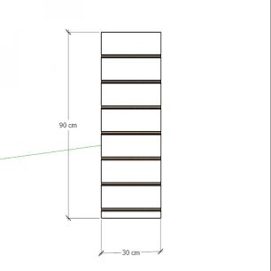 Painel canaletado para pilar cinza cristal 1 peça 30(L)x90(A)cm