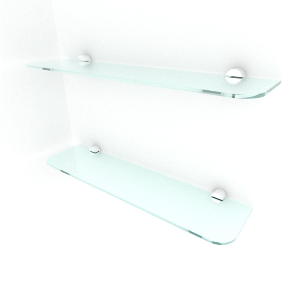 kit com 2 Prateleira de vidro temperado para sala 40(C)x8(P)cm