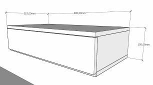 Mesa de cabeceira suspensa moderno Cinza