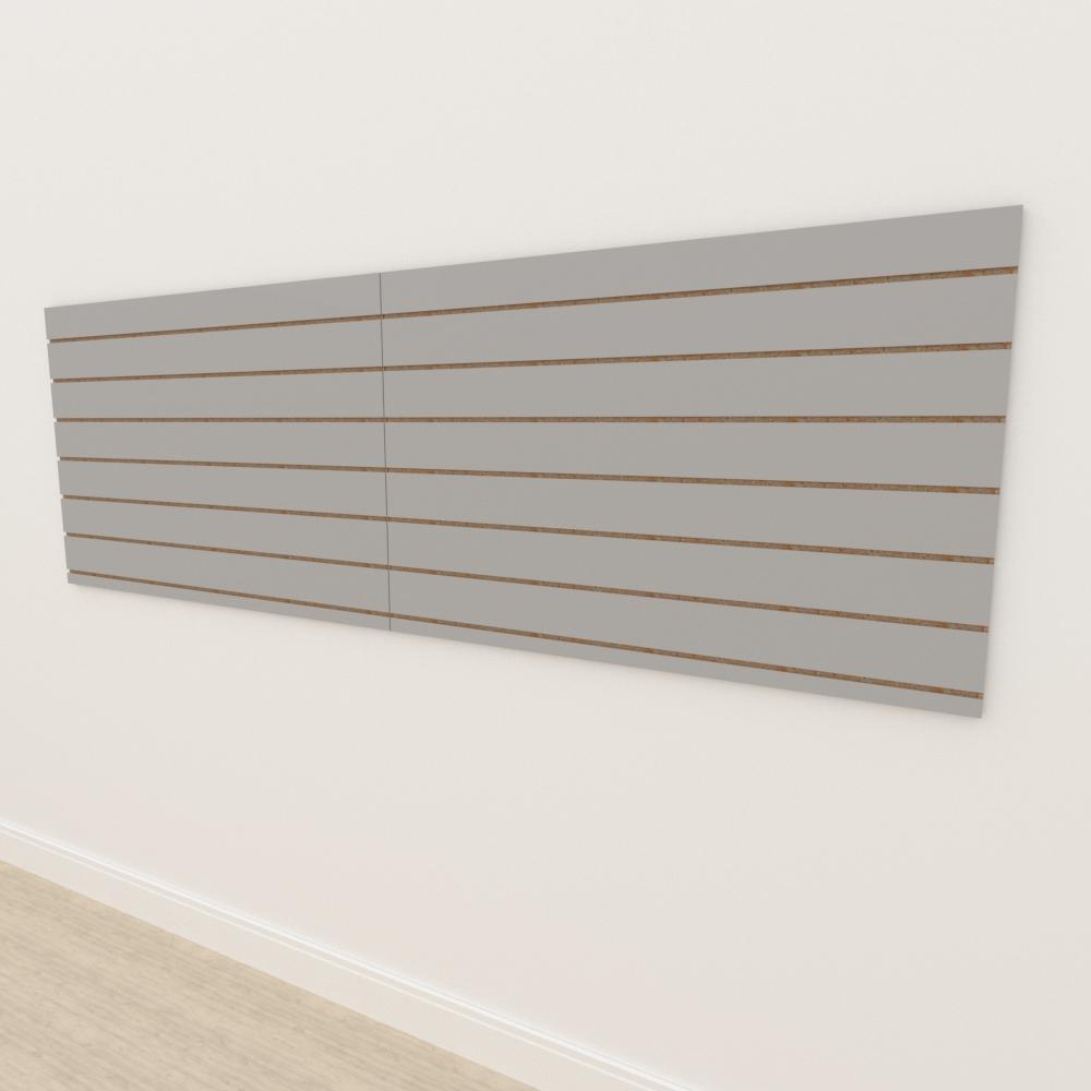 Painel canaletado 18mm Cinza Cristal Tx altura 90 cm comp 270 cm