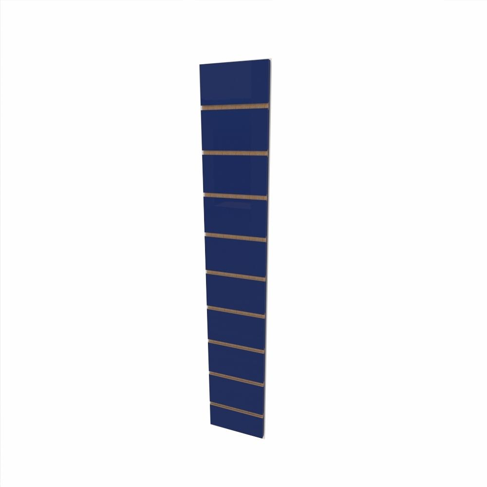 Expositor canaletado 18mm Azul Escuro Soft altura 120 cm comp 20 cm