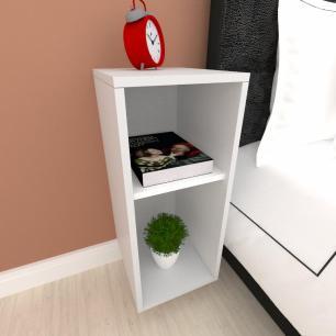 Mini estante para escritório em mdf cinza com branco