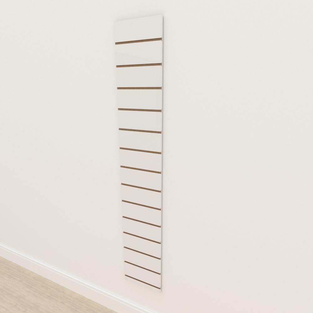 Painel canaletado 18mm Branco Texturizado altura 180 cm comp 30 cm