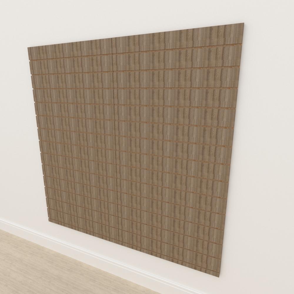 Painel canaletado 18mm amadeirado escuro altura 180 cm comp 180 cm