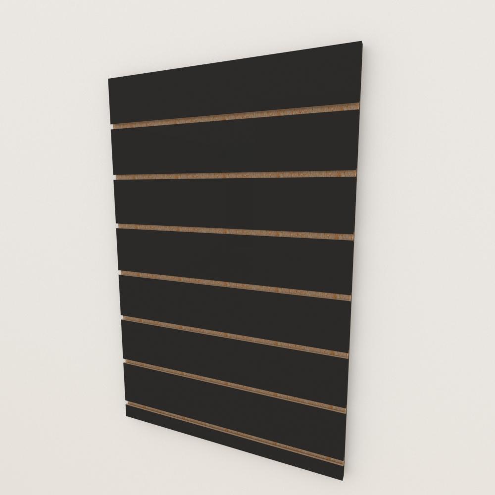 Painel canaletado 18mm Preto Texturizado altura 90 cm comp 60 cm