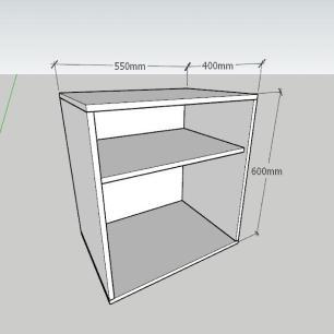 Mesa de Cabeceira formato S simples em mdf Cinza