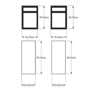 Prateleira industrial aço cor preto 30 cm MDF cor cinza modelo indfb02csl
