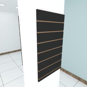 Kit 2 Painel canaletado para pilar preto 2 peças 50(L)x90(A)cm
