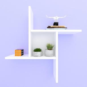 Kit com 2 nichos multi uso, moderno, todos em mdf Branco