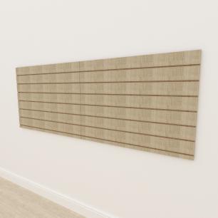 Painel canaletado 18mm amadeirado claro altura 90 cm comp 240 cm