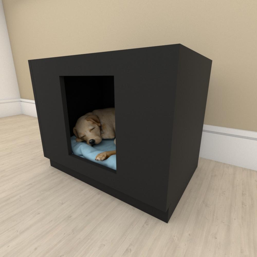 bercinho casinha para cachorro em mdf Preto