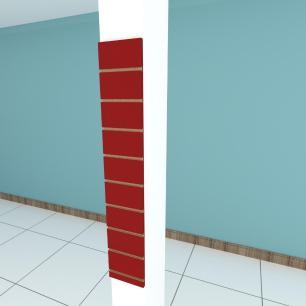 Painel canaletado para pilar vermelho escuro 1 peça 20(L)x120(A)cm