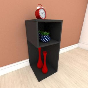 Mesa de Cabeceira formato minimalista em mdf Preto