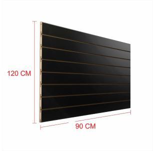 Painel canaletado 18mm preto altura 120 cm comp 90 cm