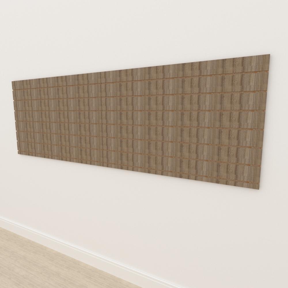Painel canaletado 18mm amadeirado escuro altura 90 cm comp 270 cm