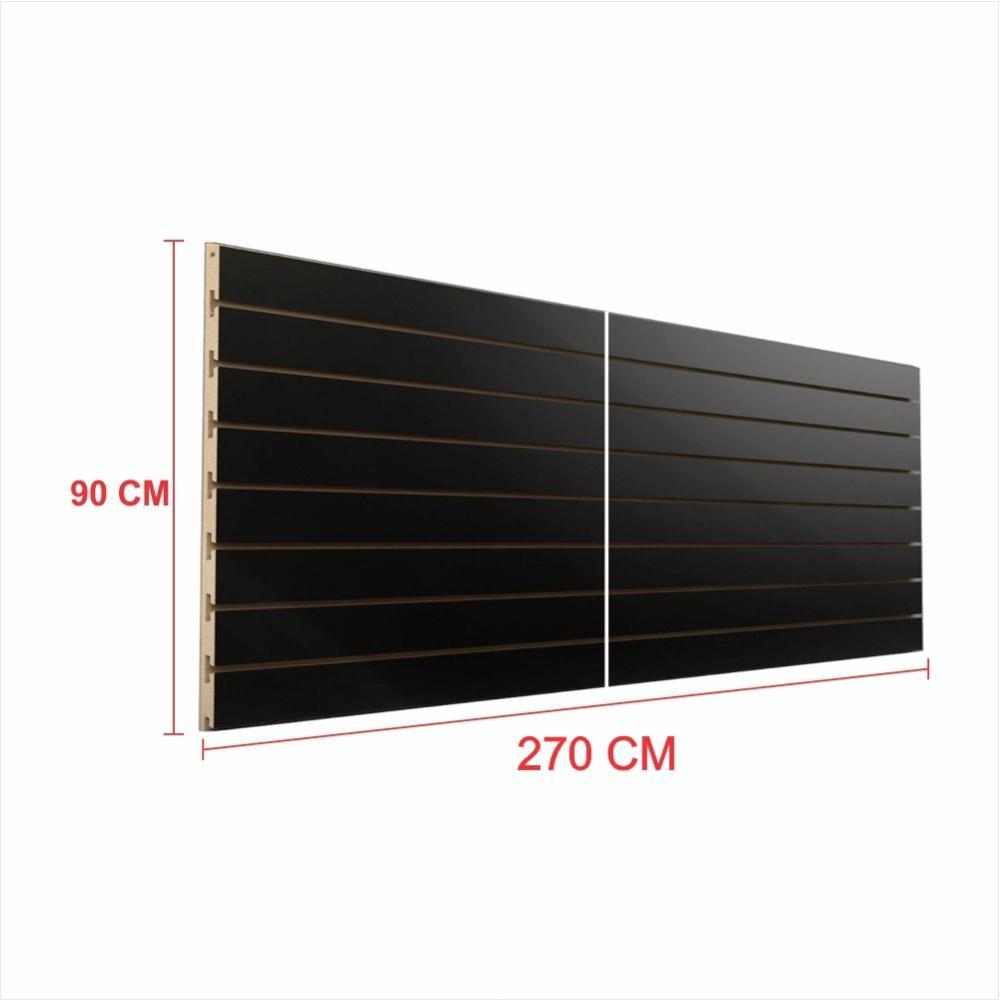 Painel canaletado 18mm preto altura 90 cm comp 270 cm