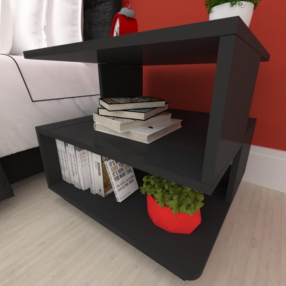 Mesa de centro, nichos Design, em mdf preto