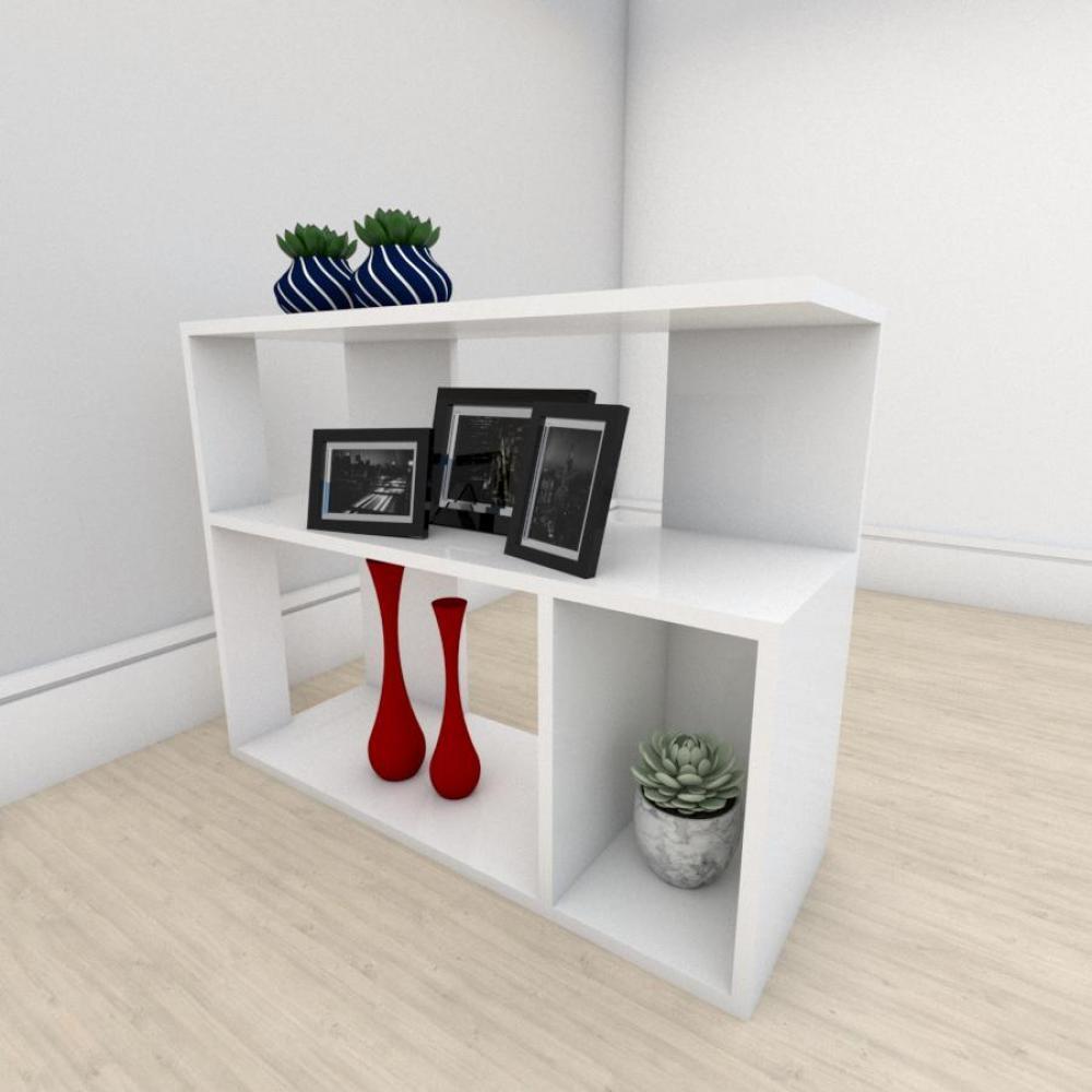 Mesa lateral para sofá formato minimalista em mdf Branco