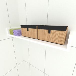 Prateleira para cozinha, nichos modernos em mdf 50x20 Branco