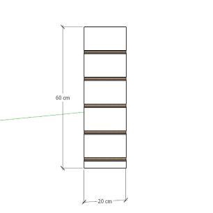 Painel canaletado para pilar amadeirado escuro 1 peça 20(L)x60(A)cm