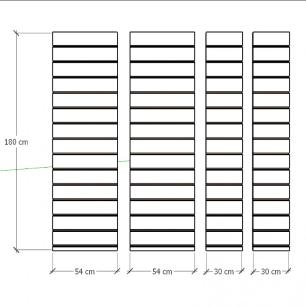 Kit 4 Painel canaletado para pilar cinza cristal 2 peças 54(L)x180(A)cm + 2 peças 30(L)x180(A)cm