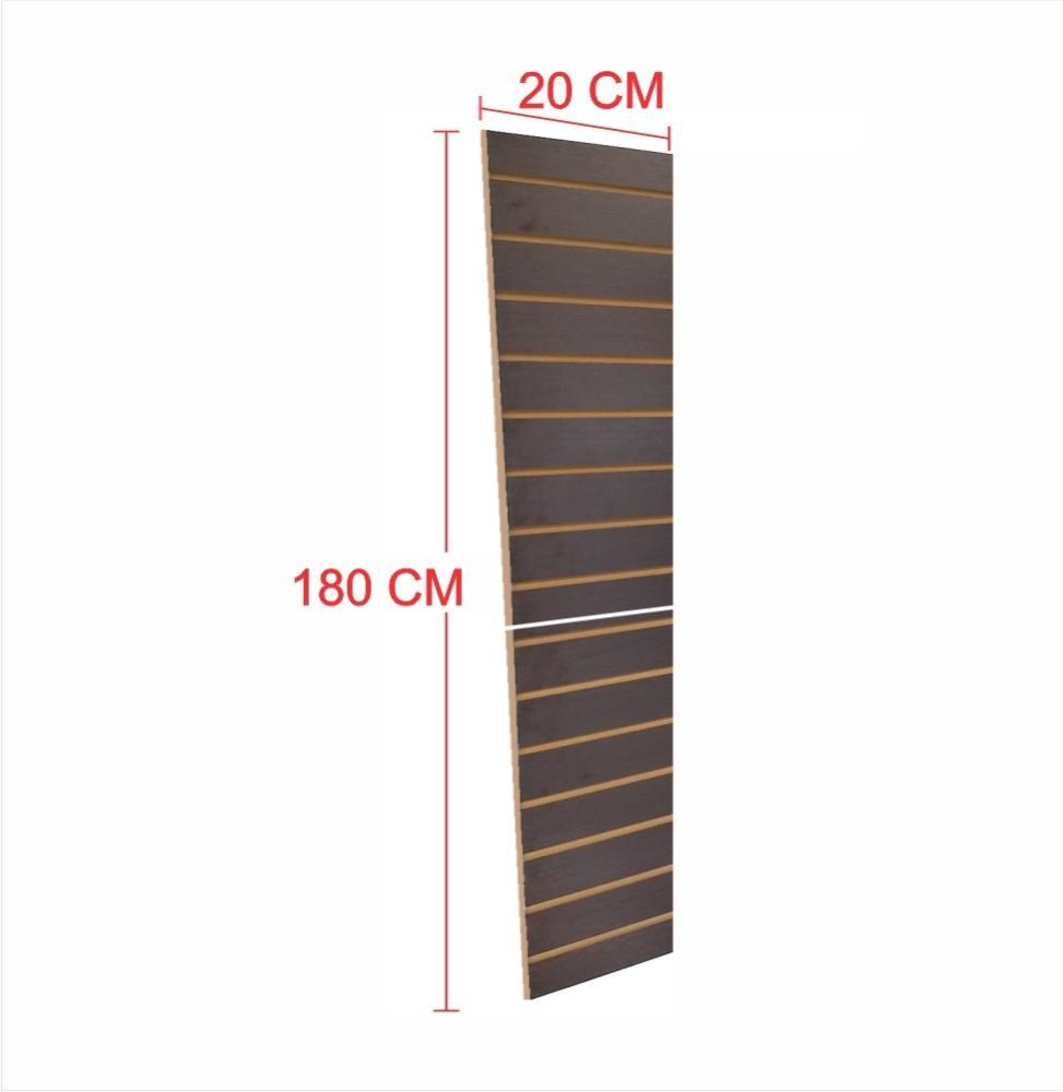 Expositor painel canaletado 18mm preto altura 180 cm comp 20 cm