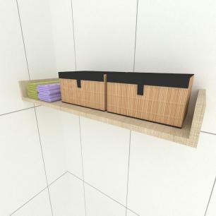 Prateleira para cozinha, em mdf 50x20 Amadeirado claro