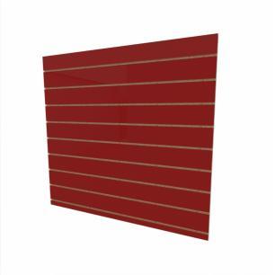 Expositor canaletado 18mm Vermelho Escuro Tx altura 120 cm comp 120 cm