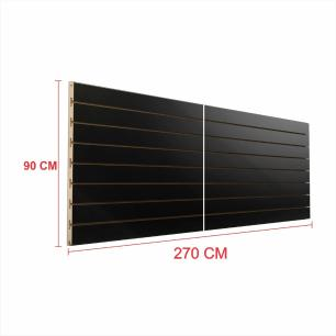 Expositor painel canaletado 18mm preto altura 90 cm comp 270 cm