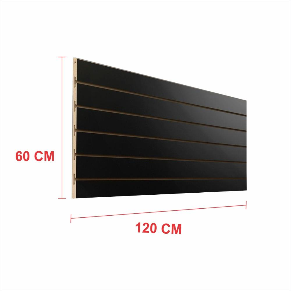 Painel canaletado 18mm preto altura 60 cm comp 120 cm