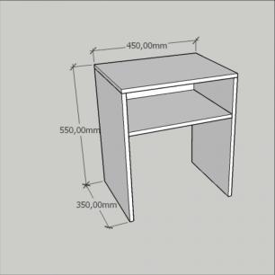 Mesa lateral sofá, mesa de canto em mdf Amadeirado escuro