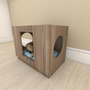 camapet para cachorro em mdf Amadeirado