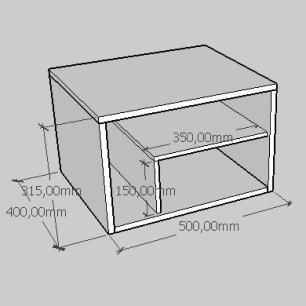 Kit com 2 Mesa de cabeceira slim com prateleiras em mdf preto