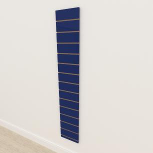 Painel canaletado 18mm Azul Escuro Soft altura 180 cm comp 30 cm