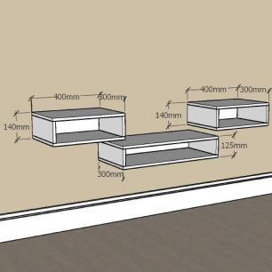 Nichos rack moderno em mdf Preto