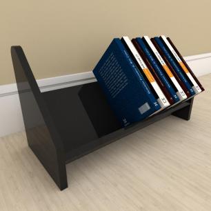 Kit com 2 Organizador para livros preto