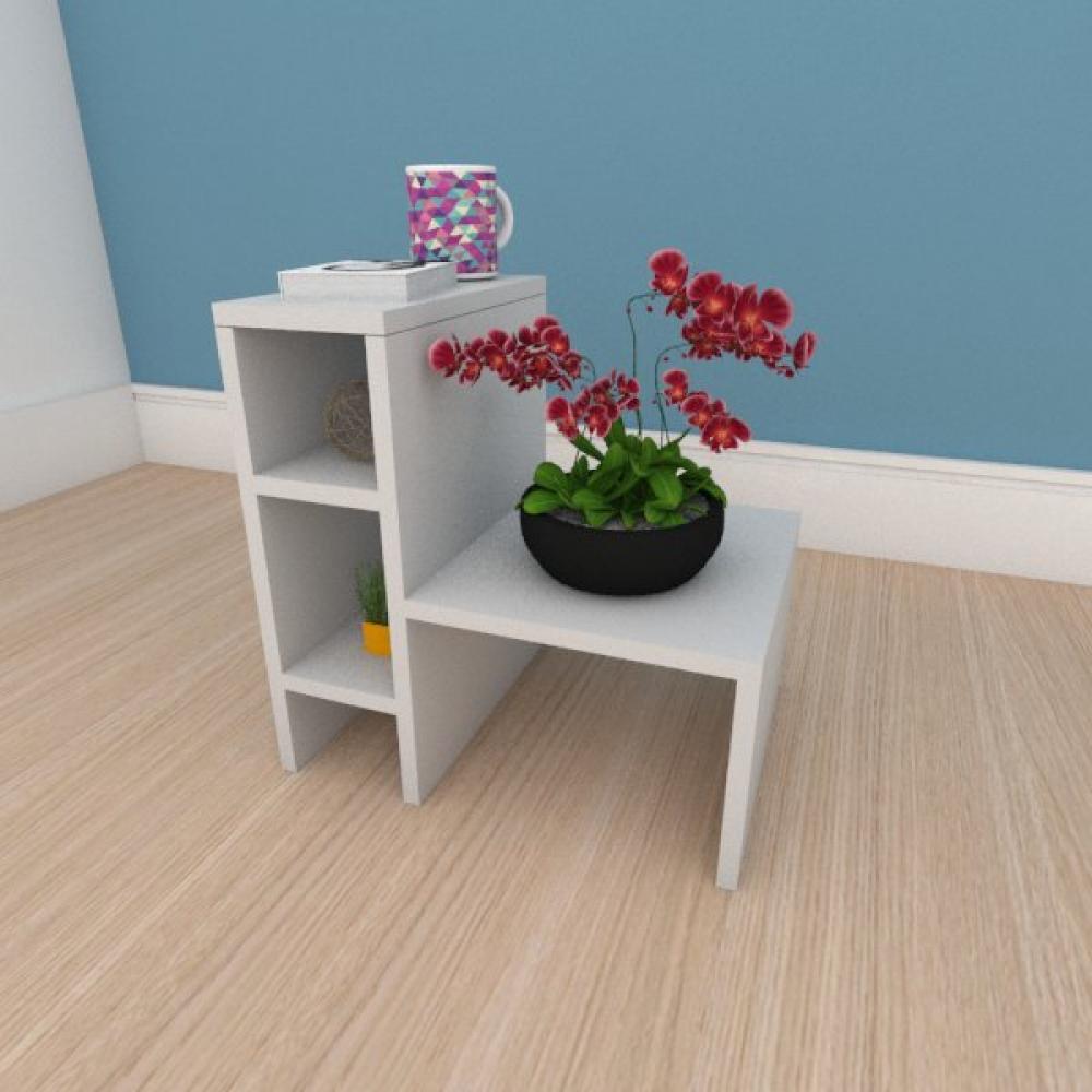 Mesa de centro minimalista em mdf cinza