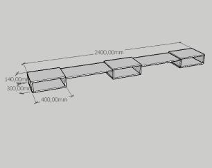 Rack slim triplo moderno com nichos em mdf branco