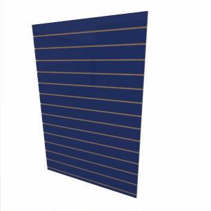 Expositor canaletado 18mm Azul Escuro Soft altura 180 cm comp 120 cm