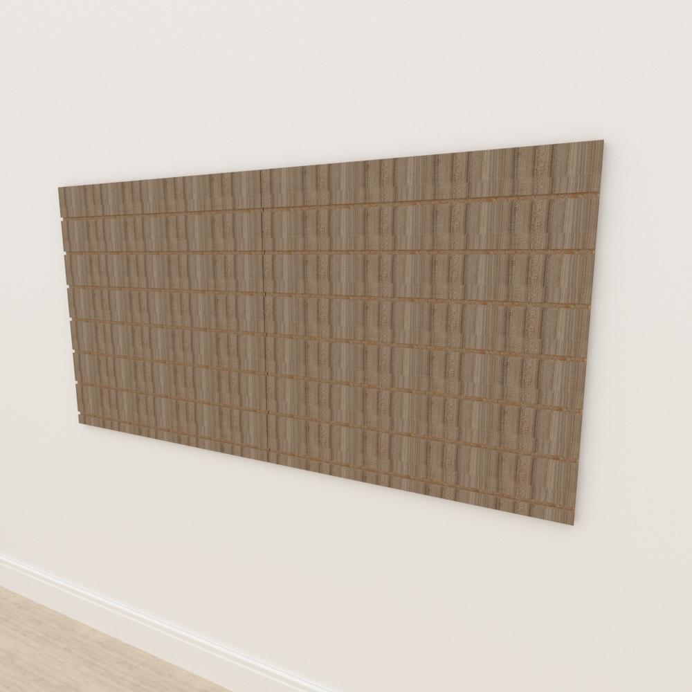 Painel canaletado 18mm amadeirado escuro altura 90 cm comp 180 cm
