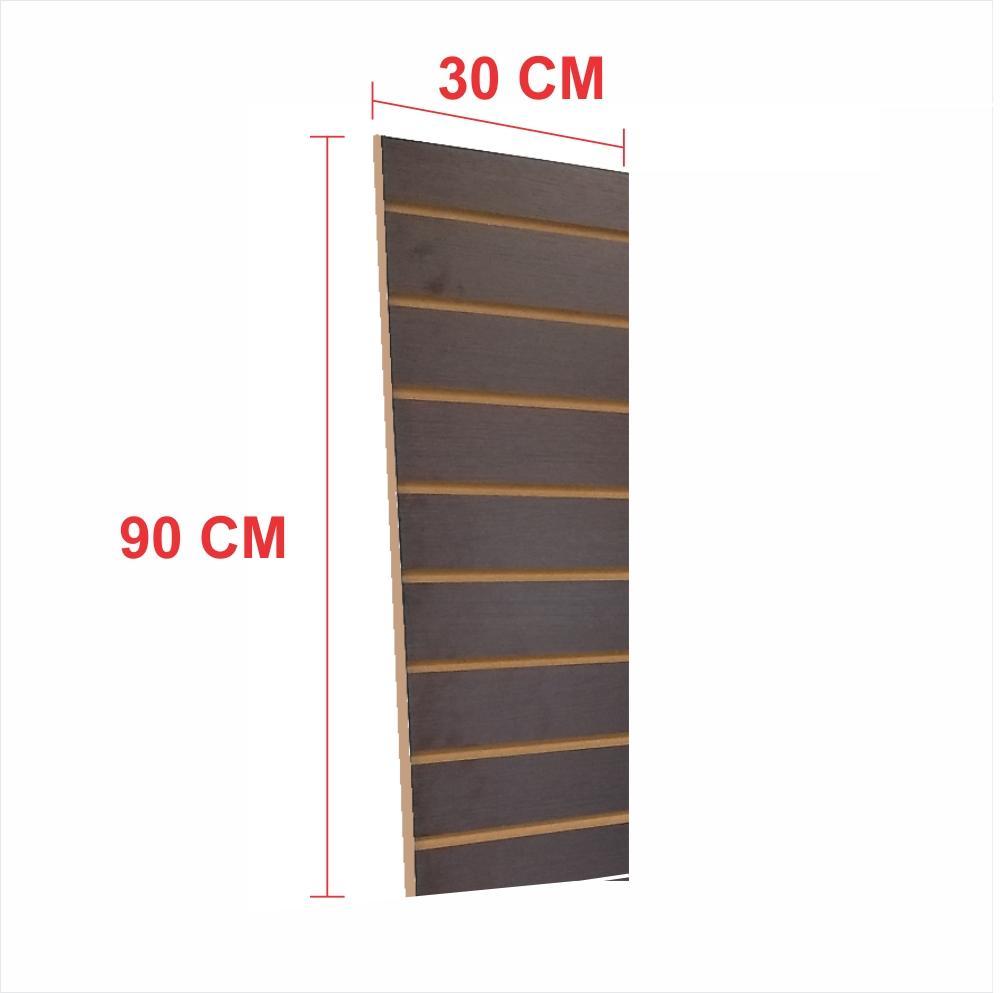 Painel canaletado 18mm preto altura 90 cm comp 30 cm