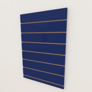 Painel canaletado 18mm Azul Escuro Soft altura 90 cm comp 60 cm