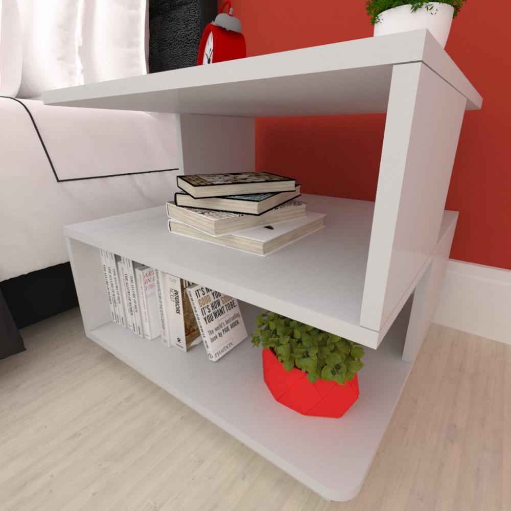 Mesa lateral sofá, mesa de canto Design, em mdf Cinza