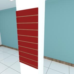 Painel canaletado para pilar vermelho escuro 1 peça 50(L)x120(A)cm