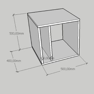 Mesa de cabeceira moderna com prateleiras em mdf preto