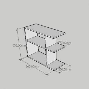 Mesa Lateral compacta com prateleira em mdf cinza