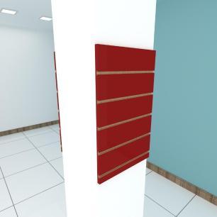 Kit 2 Painel canaletado para pilar vermelho escuro 2 peças 40(L)x60(A)cm